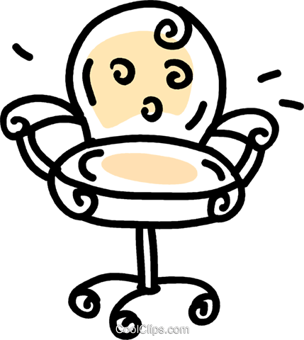 office chair Royalty Free Vector Clip Art illustration vc043684