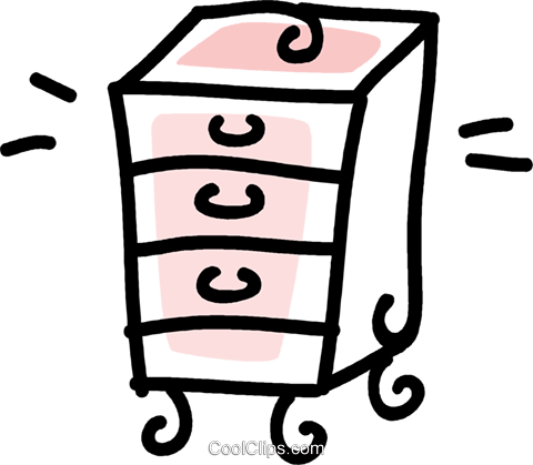 dresser drawers Royalty Free Vector Clip Art illustration vc043688