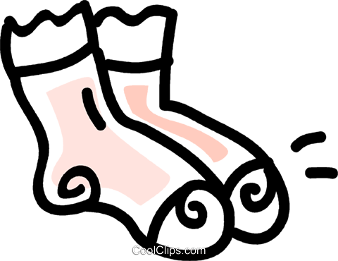 socks Royalty Free Vector Clip Art illustration vc043702