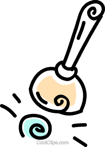 toilet plunger Royalty Free Vector Clip Art illustration vc043705