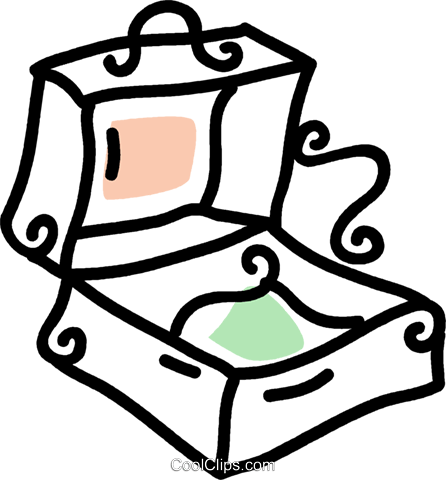 suitcase Royalty Free Vector Clip Art illustration vc043716