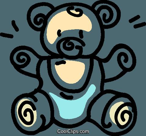 毛绒动物 免版税矢量剪贴画插图