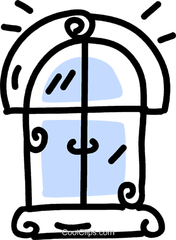 window Royalty Free Vector Clip Art illustration vc043738