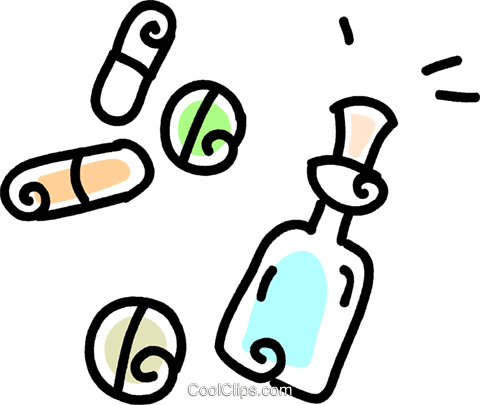 medicine Royalty Free Vector Clip Art illustration vc043746