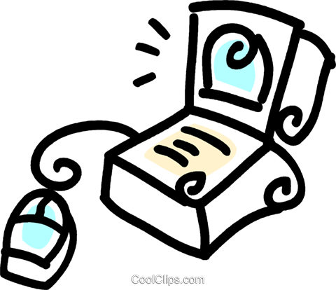 laptop/notebook computer Royalty Free Vector Clip Art illustration vc043753