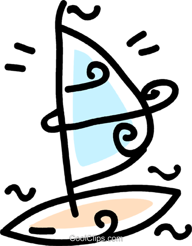 windsurfer Royalty Free Vector Clip Art illustration vc043759