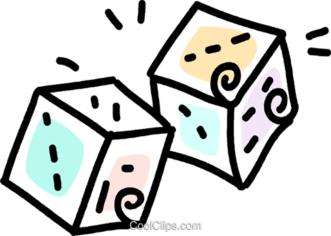 dice Royalty Free Vector Clip Art illustration vc043761