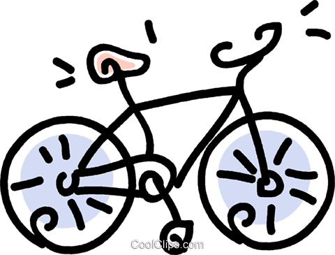 bicycle Royalty Free Vector Clip Art illustration vc043770