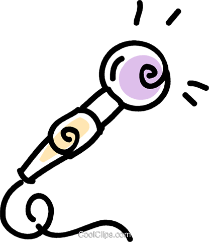 microphone Royalty Free Vector Clip Art illustration vc043791