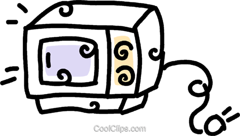 microwave oven Royalty Free Vector Clip Art illustration vc043806