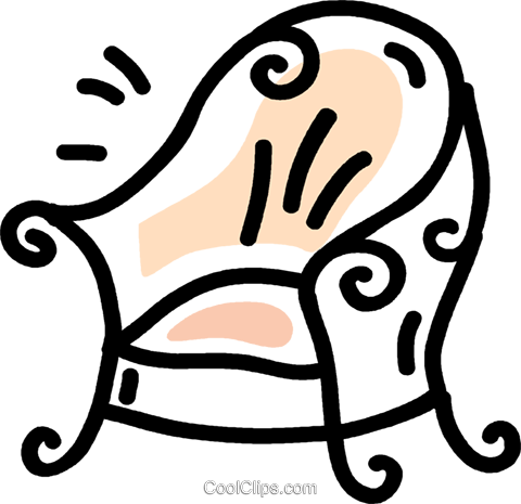 chair Royalty Free Vector Clip Art illustration vc043813