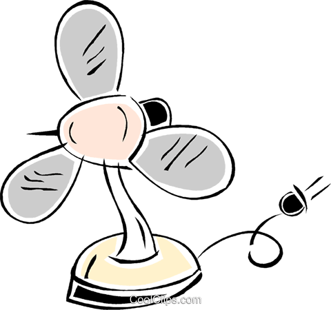 electric fan Royalty Free Vector Clip Art illustration vc043815