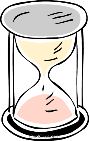 hourglass Royalty Free Vector Clip Art illustration vc043817