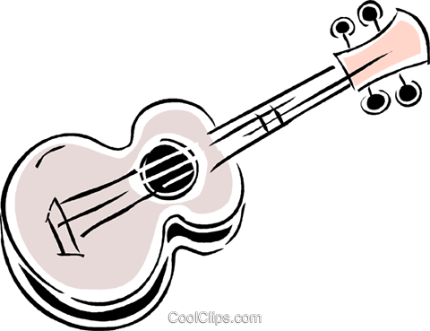 guitar Royalty Free Vector Clip Art illustration vc043825