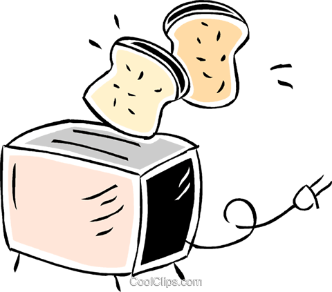toaster Royalty Free Vector Clip Art illustration vc043833