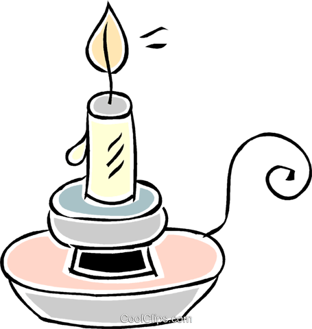 candle Royalty Free Vector Clip Art illustration vc043843
