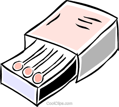 box of matches Royalty Free Vector Clip Art illustration vc043850