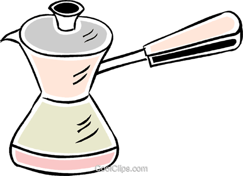 coffee maker Royalty Free Vector Clip Art illustration vc043853