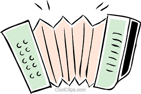 accordion Royalty Free Vector Clip Art illustration vc043858