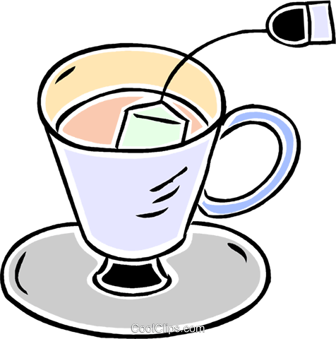 cup of tea Royalty Free Vector Clip Art illustration vc043861