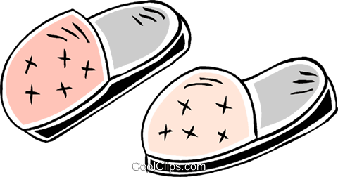 slippers Royalty Free Vector Clip Art illustration vc043866