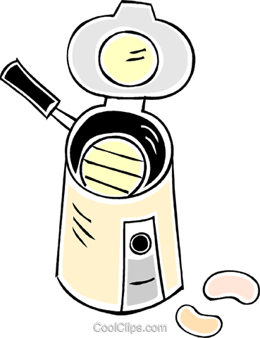 coffee maker and beans Royalty Free Vector Clip Art illustration vc043879