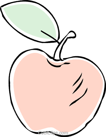 apple Royalty Free Vector Clip Art illustration vc043881