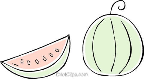 watermelon Royalty Free Vector Clip Art illustration vc043910