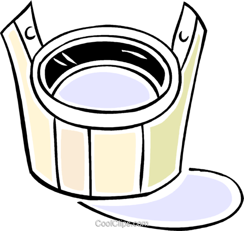 bucket Royalty Free Vector Clip Art illustration vc043913