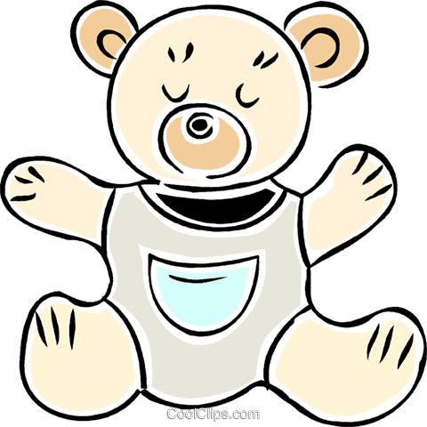 stuffed animal Royalty Free Vector Clip Art illustration vc043922