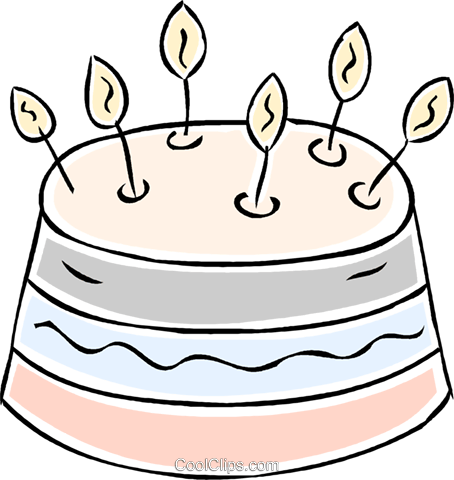 birthday cake Royalty Free Vector Clip Art illustration vc043926