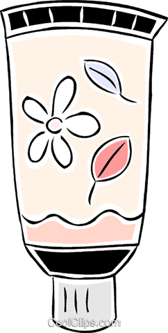 lotion/cream Royalty Free Vector Clip Art illustration vc043941