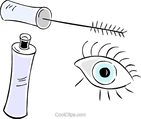 mascara Royalty Free Vector Clip Art illustration vc043944