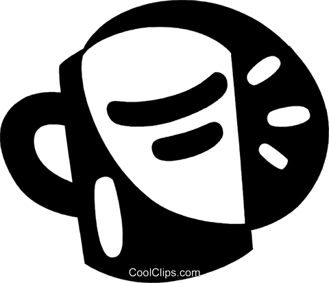 cup of coffee Royalty Free Vector Clip Art illustration vc044010