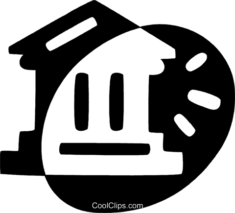 bank Royalty Free Vector Clip Art illustration vc044050