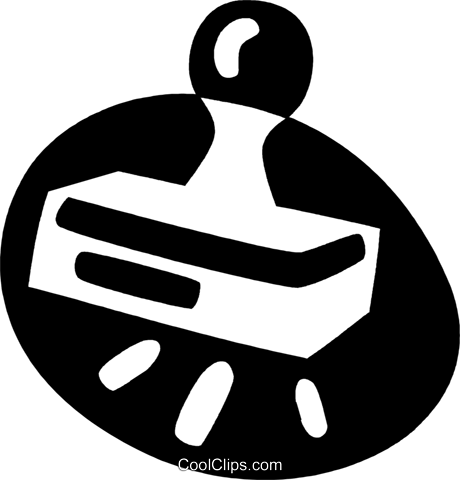 rubber stamp Royalty Free Vector Clip Art illustration vc044061