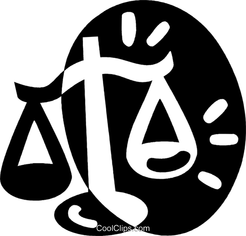 scales of justice Royalty Free Vector Clip Art illustration vc044069