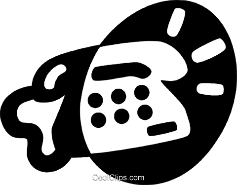 telephone Royalty Free Vector Clip Art illustration vc044077