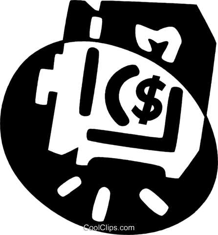 money Royalty Free Vector Clip Art illustration vc044085