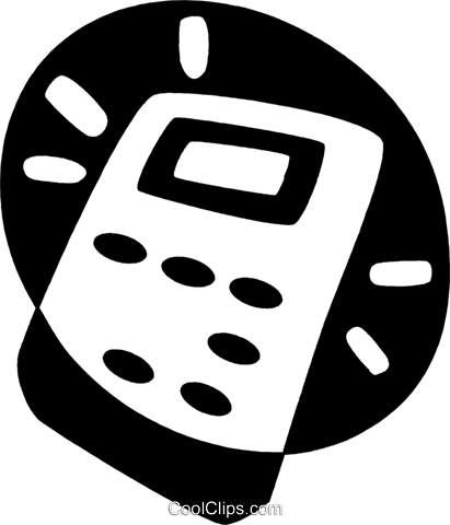 calculator Royalty Free Vector Clip Art illustration vc044106