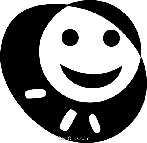 happy face Royalty Free Vector Clip Art illustration vc044110