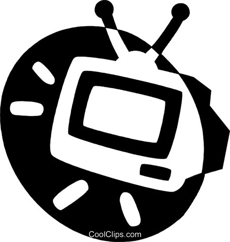 television Royalty Free Vector Clip Art illustration vc044118
