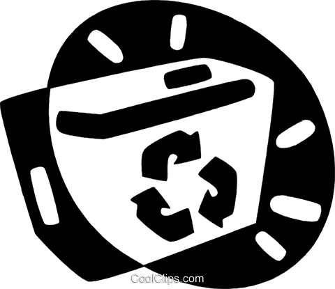 recycle boc Royalty Free Vector Clip Art illustration vc044133