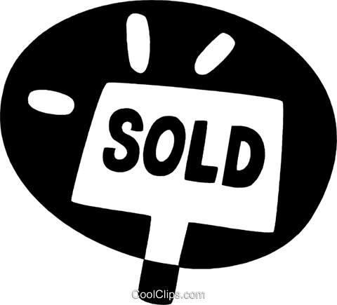 sold sign Royalty Free Vector Clip Art illustration vc044162