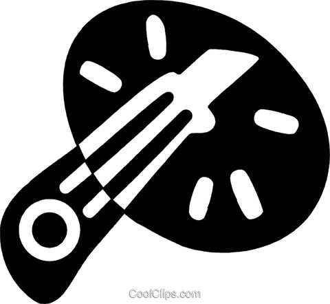 utility knife Royalty Free Vector Clip Art illustration vc044164