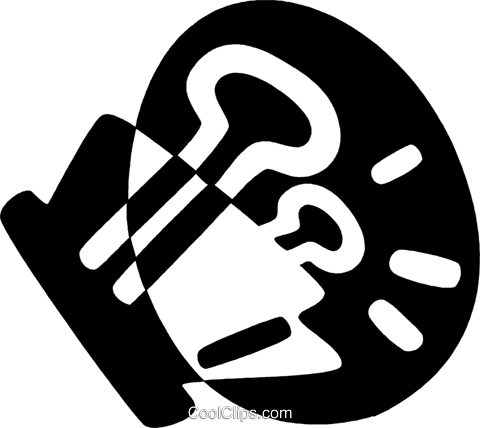 bulldog clip Royalty Free Vector Clip Art illustration vc044170