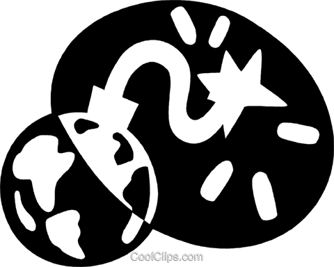 planet earth Royalty Free Vector Clip Art illustration vc044185