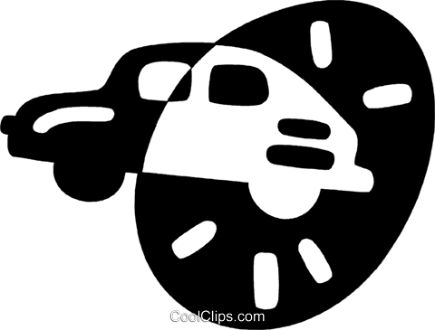 family car Royalty Free Vector Clip Art illustration vc044188