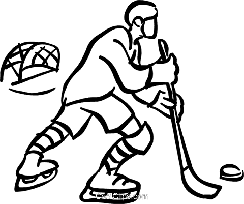 Hockey Player Royalty Free Vector Clip Art Illustration Vc045299
