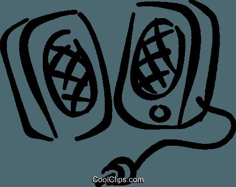 Computer speakers Royalty Free Vector Clip Art illustration